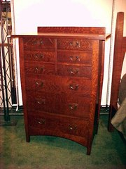 Harvey Ellis style 9-drawer highboy